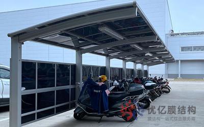 丹东铝合金车棚应用案例