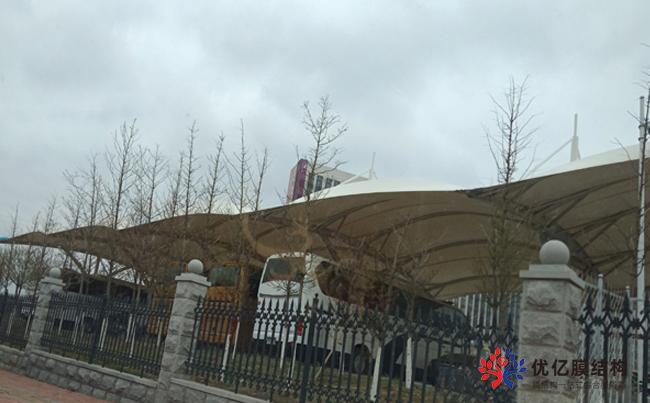 大连监狱办公区大客车膜结构停车棚